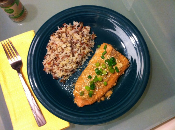 soy sauce and honey glazed salmon