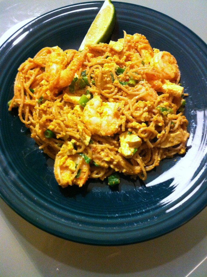 shrimp pad thai on the lighter side recipes dishmaps shrimp pad thai ...
